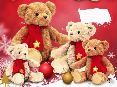 SX5021 TRADITIONAL BEAR XMAS 15cm
